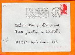LOIRE-ATL., La Baule, Flamme SCOTEM N° 4412, Midi De La Bretagne - Postmark Collection (Covers)