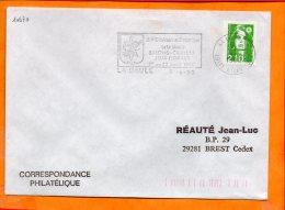 LOIRE-ATL., La Baule, Flamme SCOTEM N° 10670, Salons Sté Litteraires De La Baule, 1-22 Avril 1990 - Oblitérations Mécaniques (flammes)