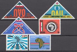 Ghana 1965 Mi.nr: 237-242 Gipfelkonferenz Der....  Neuf Sans Charniere /MNH / Postfris - Ghana (1957-...)