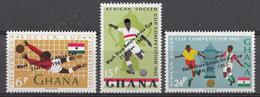 Ghana 1965 Mi.nr: 250-252 Gewinn Der Fussball-Meisterschft Durch Ghana  Neuf Sans Charniere /MNH / Postfris - Ghana (1957-...)