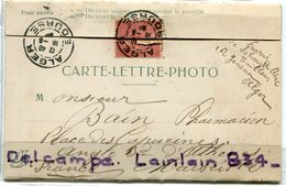 -  Carte Lettre Photo - ALGER - Dépliant, 4 Vues, Début 1900, Animations, Très Rare, Cachet, TBE, Scans. - Alger