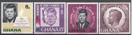 Ghana 1965 Mi.nr: 246-249 Todestag Von John F.Kennedy  Neuf Sans Charniere /MNH / Postfris - Ghana (1957-...)