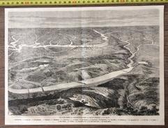 ANCIEN DOCUMENT 1860 CIVIL WAR GUERRE DE SECESSION VUE EN VIRGINIE FORT DARLING VIRGINIA - Colecciones