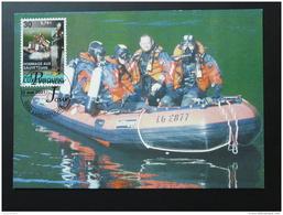 Carte Maximum Card Sauveteurs Rescue Zodiac Plongée Diving Luxembourg 2001