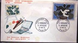 FDC - 1961 - YT 1319 - Tableau - Peintre - Braque - Le Messager - 1960-1969