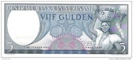 Suriname - Pick 120 - 5 Gulden 1963 - Unc - Suriname