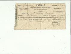 Facture De L'ABEILLE  Cie D'Assurances Incendie A Annecy Adressé A  Mr DEMAISON-HOTEL A Allonzier 74 - Banca & Assicurazione