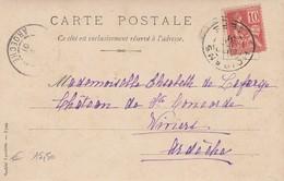 FRANCE - CARTE POSTALE  POUR VIVIERS ARDECHE / 2 - 1877-1920: Semi-Moderne