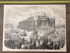 ANCIEN DOCUMENT 1860 INAUGURATION DU PONT DE COLOGNE KOLN BRIDGE BRUCKE - Vecchi Documenti
