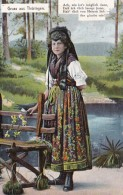 Germany Gruss Aus Thueringen Girl In Traditional Costume 1910