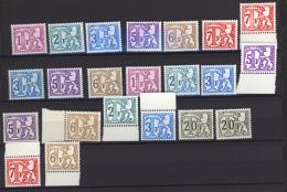 06204+  -  Belgique  :  Lot De 22 Timbres Taxe **  ,pour étude