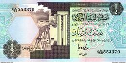 LIBYA 1/2 DINAR ND (1996) P-58c UNC [ LY522c ] - Libië