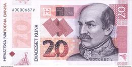 CROATIA 20 KUNA 2014 P-NEW UNC [ HR508a ] - Croatia