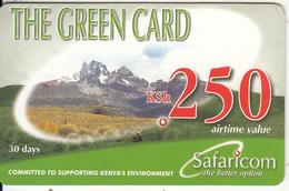 KENYA - Landscape, Safaricom Prepaid Card Kshs 250, Exp.date 11/04/08, Used - Kenya