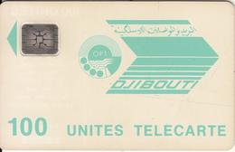 DJIBOUTI - OPT Logo 100 Units, CN : 36228, Chip SC4, Used - Djibouti