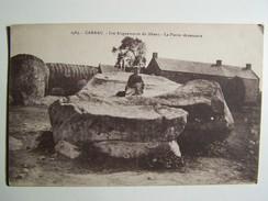 Cp T24 CARNAC Les Alignements Du Menec La Pierre Résonnante 1931 - Carnac