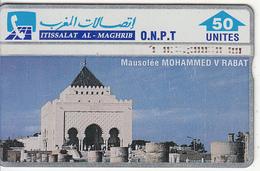 MOROCCO(L&G) - Mausoleum Of Mohammed V/Rabat, O.N.P.T. Telecard 50 Units, CN : 305A, Used