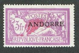 ANDORRE YVERT Nº 20 MERSON AVEC CHANIERE NEUF - Andorre Français