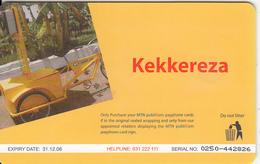 UGANDA(chip) - Kekkereza, MTN Publicom Telecard Ssh 25000, Chip GEM3.1, Exp.date 31/12/06, Used - Uganda