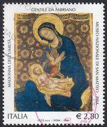 ITALIA - 2006 - Yvert 2861 Usato - Riproduce La Madonna Dell'Umiltà Di Gentile Da Fabriano, 2.80 Euro - 6. 1946-.. Republic
