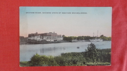 Saginaw River Showing Sate Of NY And Ship Wolverine  -ref 2570 - Barche