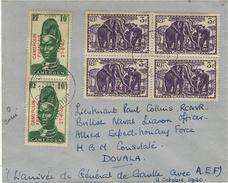 11 Oct. 1940- Enveloppe  Très Bel Affr. De DOUALA - Arrivée Du Gl De GAULLE - Storia Postale
