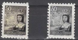 Ecuador 578/579 ** Isabel. 1954 - Ecuador