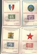 """Luxembourg Serie De 4 Cartes De 1945 """" Honneurs à Nos Allés - Luxembourg"""
