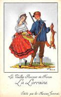 [DC10023] CPA - LES VIEILLES PROVINCES DE FRANCE EDITE PAR LES FARINES JAMMEL FIRMATA DROI LA LORRAINE NV - Old Postcard - Droit