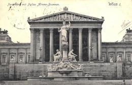 [DC10027] CPA - AUSTRIA - WIEN  -PARLAMENT MIT ATHENE BRUNNEN - Viaggiata - Old Postcard - Vienna