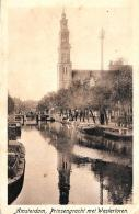 [DC10032] CPA - PAESI BESSI - AMSTERDAM - PRINSENGRACHT MET WESTERTOREN - Viaggiata 1922 - Old Postcard - Amsterdam
