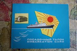 USSR-Embarkation Card Black Sea Steamship Company 1960s - Europa