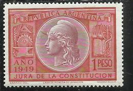 ARGENTINA 1949 LIBERTY LIBERTA' 1 PESO MNH - Nuovi