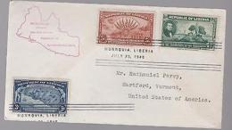 1940 Liberia FDC To USA 100th Anniversary Of Liberia First Day Cover - Liberia