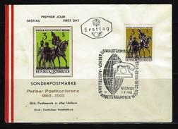 ÖSTERREICH - FDC Mi-Nr. 1129 - 100. Jahrestag Der 1. Internationalen Postkonferenz, Paris Stempel WIEN (10) - FDC