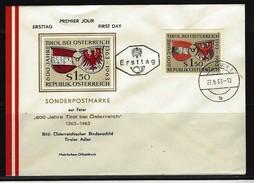 ÖSTERREICH - FDC Mi-Nr. 1133 - 600 Jahre Zugehörigkeit Tirols Zu Österreich Stempel INNSBRUCK (10) - FDC