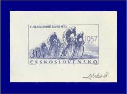 Qualité: EPA – 900, épreuve D'artiste En Bleu, Signée: 30h. Tour Cycliste, Paix. - Stamps