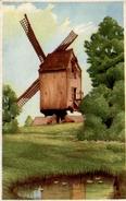 CPA Aquarelle D'un Moulin - Paintings