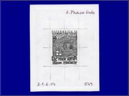 """Qualité: EPA – 2536, épreuve D'artiste En Noir Sur Papier Gommé, Annotée """"2... - Stamps"""