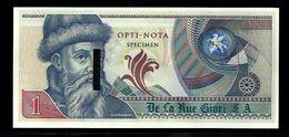 """Echantillon DE LA RUE """"Gutenberg - Type G"""" Testnote, Mit Intaglio, Beids. Druck, RRR, UNC, SPECIMEN - Banknoten"""