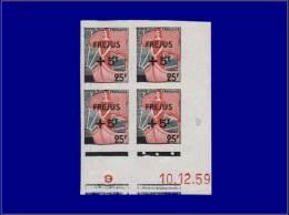 Qualité: XX – 1239, Bloc De 4, Cd 10/12/59; Frèjus. Cat Price €: 140 - Stamps