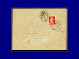"""138, Enveloppe, 2 Oblitérations De Fortune, Cachet Ovale, 1 Négatif """"Allégorie"""", 1 Positif... - Stamps"""