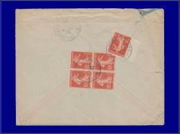 """138 (x5) Sur Enveloppe, Cad """"tresor & Postes 528 - 23/12/22"""". (Smyrne). - Stamps"""