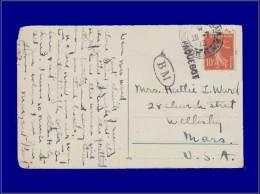 """138, Sur Cp, Cad. """"Constantinople, Poste Française 28/7/10"""" + Griffe Paquebot + Cac """"B M"""", Boite Mobile. - Stamps"""