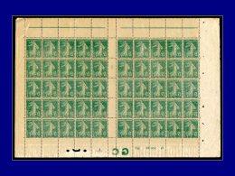 """Qualité: XX – 137, Feuille De 50, Papier GC, Millésime """"7"""" Avec Manchette GC & N° De... - Stamps"""