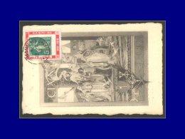 """137, Sur Porte Timbre Rouge """"Millénaire De Cluny"""", Obl. Spéciale Sur Cp Millenaire 2/9/10. - Stamps"""