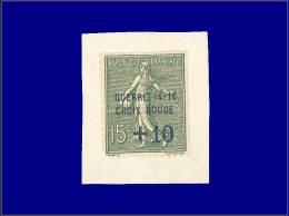 """Qualité: XX – 130, Surcharge Bleue """"Guerre 14-16, Croix Rouge + 10"""", Sur Petit Feuillet: 15c.... - Stamps"""