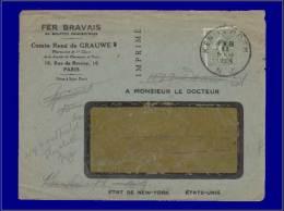 """130, Sur Imprimé, Oblitéré à L'arrivée, CAD. """"Kenilworth NJ 11/2/25"""". - Stamps"""