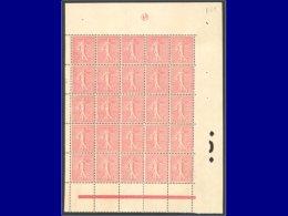 Qualité: XX – 129, Joli Bloc De 25 Avec Marges Tout Autour: 10c. Lignée. Cat Price €: 550 - Stamps