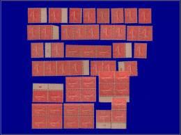 Qualité: XX – 129, Lot De 51 Exemplaires, Nuances & Papiers Divers, Tb. Cat Price €: 1020 - Stamps